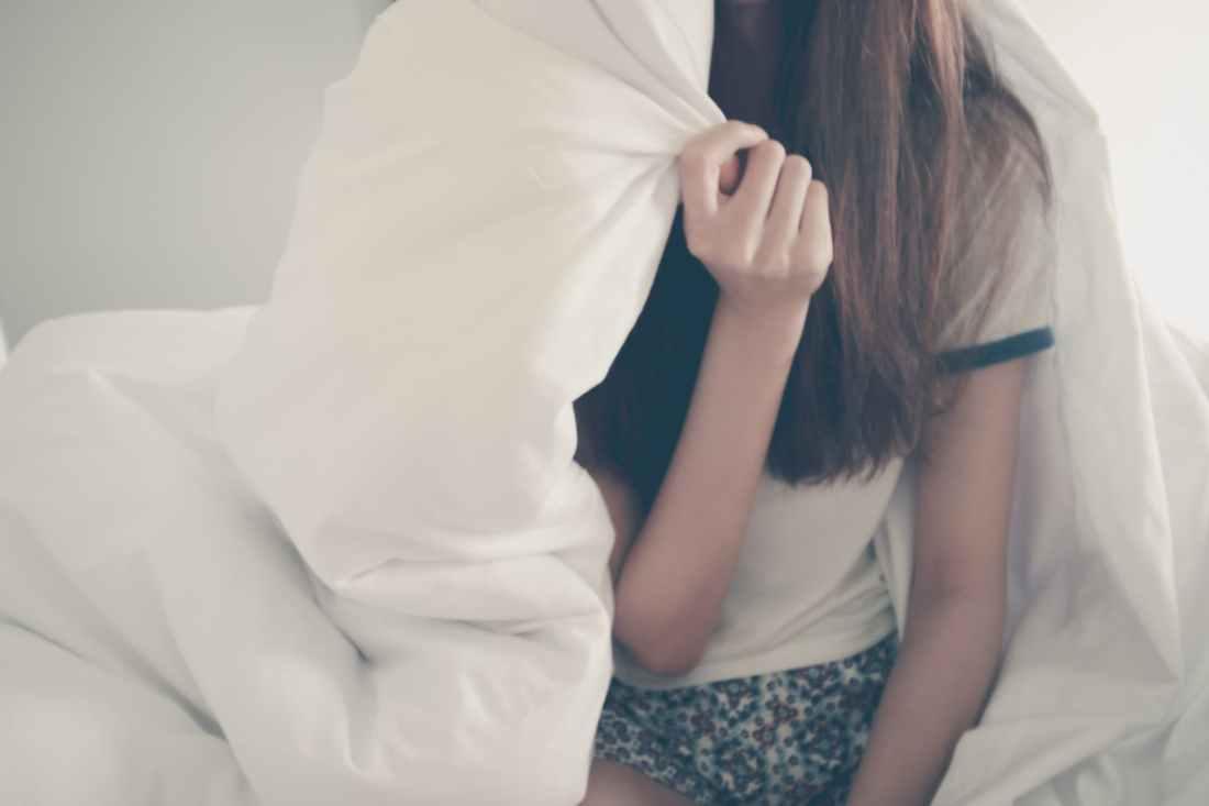 bed blanket female girl